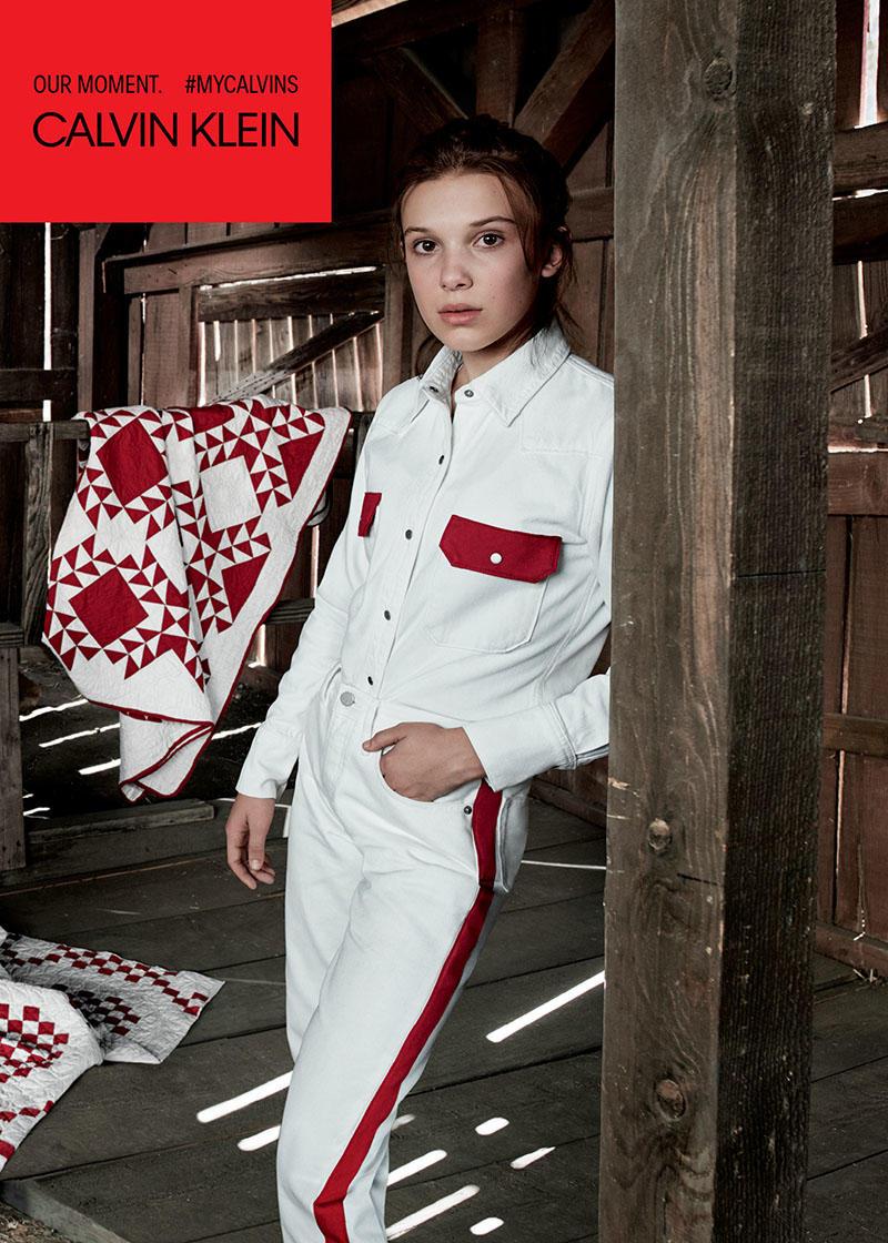 Майкл Жексоны охин Пэрис Жексон Calvin Klein-ы сурталчилгаанд тоглолоо Майкл Жексоны охин, Милли Бобби Браун нар Calvin Klein-ы сурталчилгаанд (фото 3)