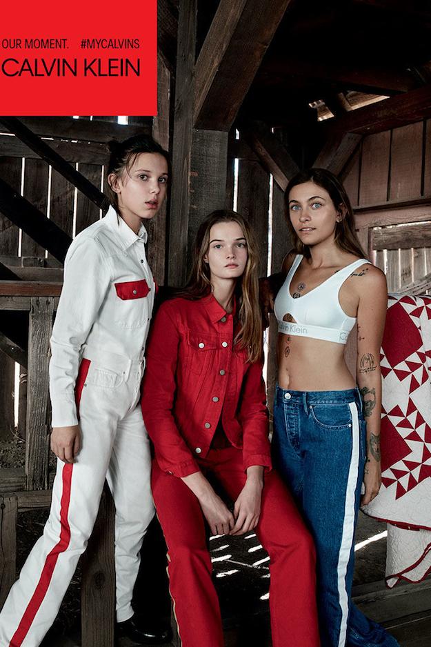 Майкл Жексоны охин Пэрис Жексон Calvin Klein-ы сурталчилгаанд тоглолоо Майкл Жексоны охин, Милли Бобби Браун нар Calvin Klein-ы сурталчилгаанд (фото 1)