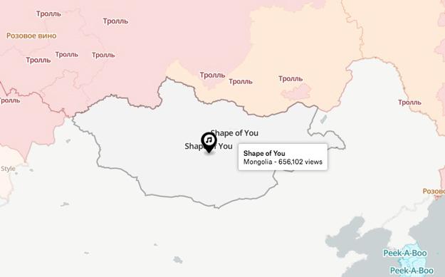 Монголчуудын YOUTUBE-ээс хамгийн их сонссон дуу