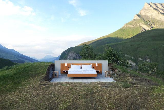 Швейцарийн Альпийн нуруун дахь задгай зочид буудал (фото 1)