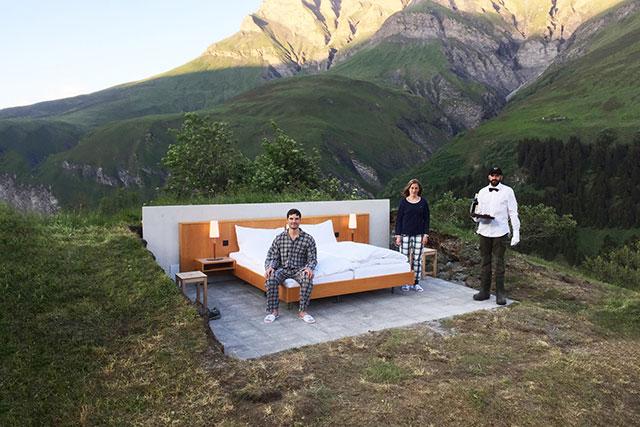 Швейцарийн Альпийн нуруун дахь задгай зочид буудал (фото 2)