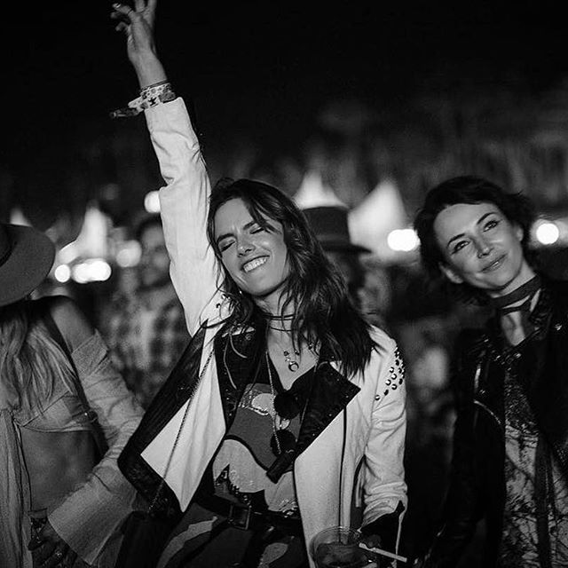Neon lights , festival sights , perfect desert nights        #amexaccess tent @coachella   @timuremek