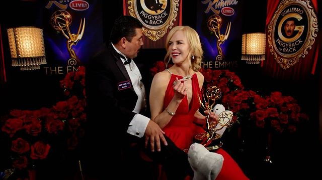 @IamGuillermo s full report from the #Emmys TONIGHT! #SneakPeek #PiggyBackToBack #tequila #NicoleKidman @OfficialJLD