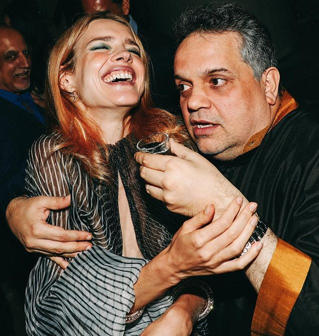 He was the highlight of my evening. Kept trying to make me do shots and I must say I did fall to his charms couple of times  Sandeep Khosla is not only one of the best Indian designers but also such a funny guy and a great dancer #howwedanced      #funfun