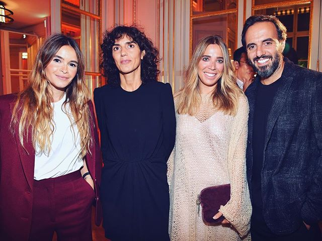 Throw back to the beautiful @buro247ru and @farfetch #BFFIxFarfetch dinner in Paris with my favorite people Jose Neves, CEO and Founder of Farfetch @josefarfetch, Daniela Cecílio Neves Founder of Asap54 @dandacecilioneves And Francesca Bellettini, CEO of @ysl, supporting young talents in design from 10 countries from Japan and Korea to Australia and Latin America. Looking forward to exciting 6 months of the Initiative ahead.