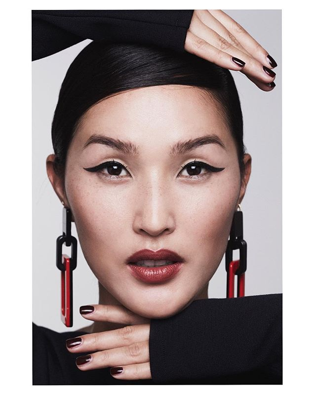 When Giorgio Armani creates a lip shade with you in mind. Thank you for letting me be the first to try my new Lip Magnet  FATALE  @armanibeauty   Photography: @andrewarthur Make-up: @rachidtahar Hair: @kelseymorgan Creative Direction/Styling:   Production: @chloebrinklow