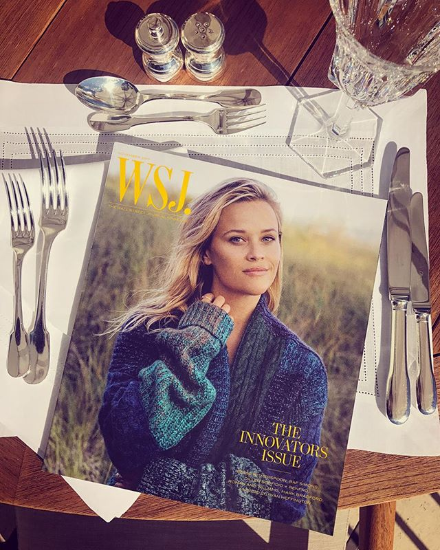 Hungry? Dig into the cover story I wrote on this big little legend @reesewitherspoon. On newsstands today!    @wsjmag