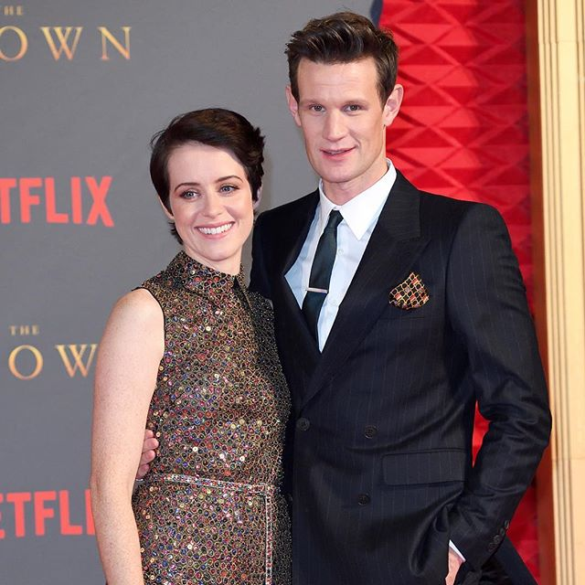 #Netflix s royals #ClaireFoy and #MattSmith attend the season 2 premiere of #TheCrown in #London #buro247singapore