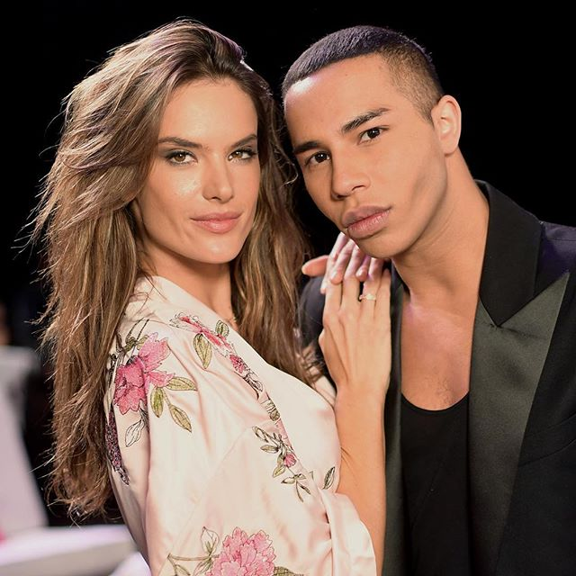 #AlessandraAmbrosio and #OlivierRousteing backstage at the #VictoriasSecret #fashion show in #Shanghai #buro247singapore