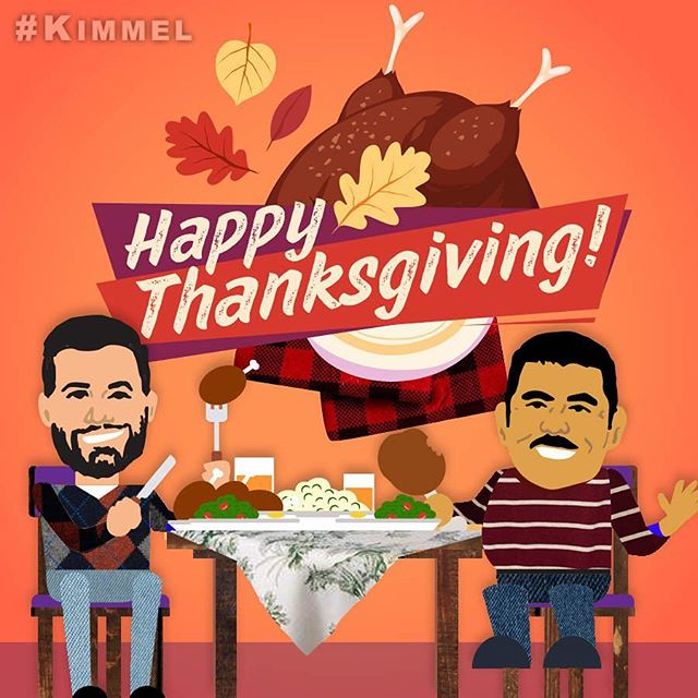 #HappyThanksgiving friends! Love, Jimmy & Guillermo