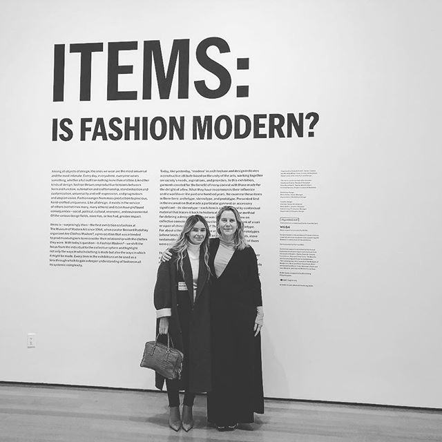 IS FASHION MODERN? Paola Antonelli and MOMA will answer your question. @paolantonelli @themuseumofmodernart thank you for having me and taking me through this great exhibition of history of fashion and costume