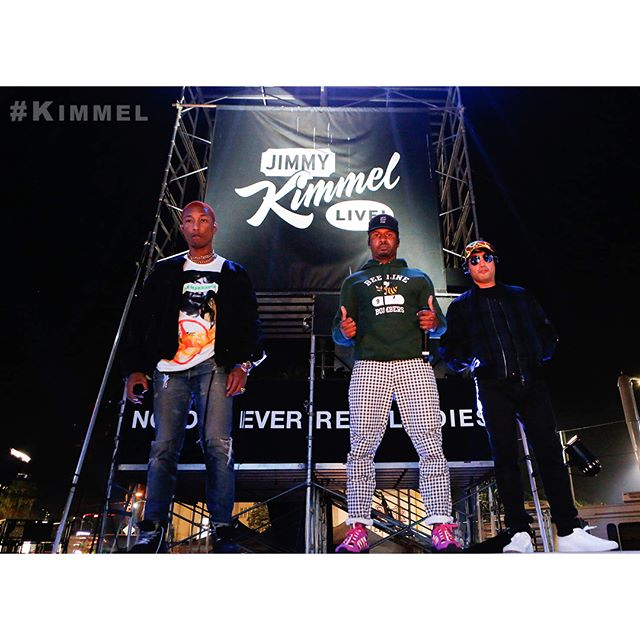@NERD reunited for their first album in seven years! Incredible performance on #Kimmel TONIGHT! #Lemon #NoOneEverReallyDies @Pharrell
