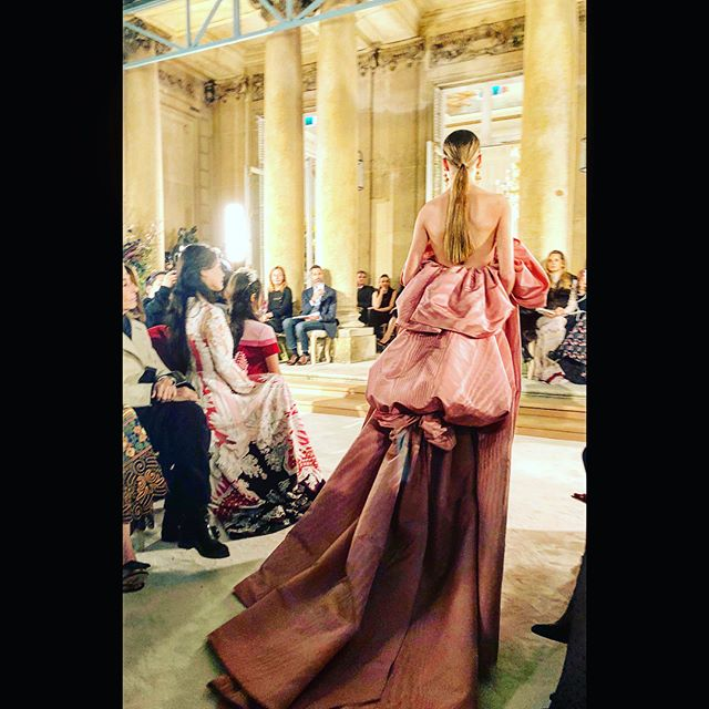 A real haute couture show !         Bravo          Pierpaolo !! You outdid yourself ! !!! @maisonvalentino #stilldreaming #breathtaking