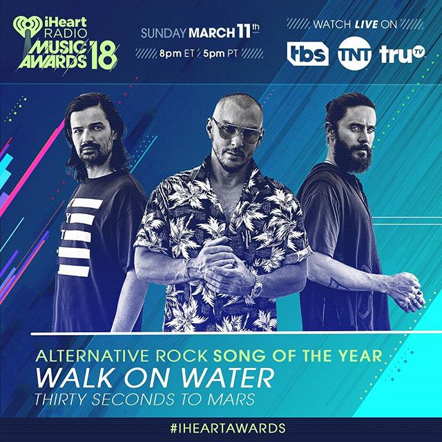 Thx for the two nominations!!! Our  tribute to the greats  cover + #WalkOnWater are nominated at this year s @iHeartFestival Awards!!      Tag #TributeSong + #BestCoverSong + #iHeartAwards to vote here on IG