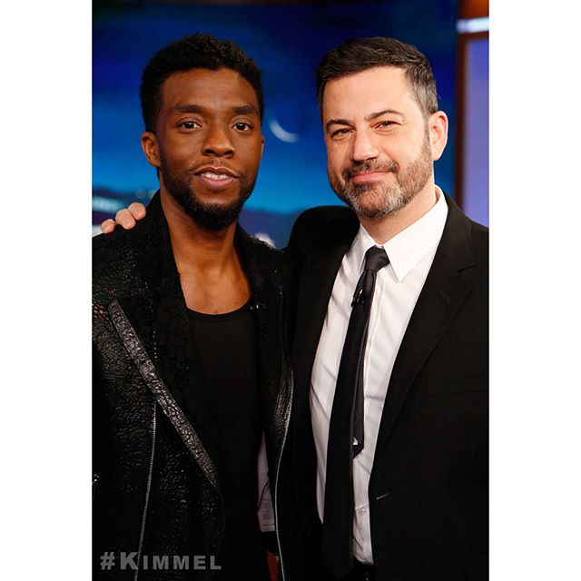 The #BlackPanther himself - @ChadwickBoseman! #Kimmel @Marvel