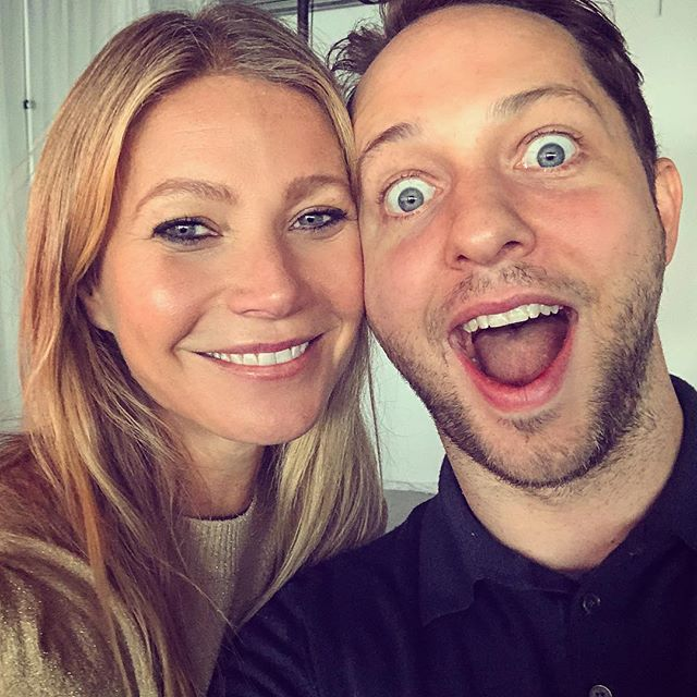I ve been with @gwynethpaltrow for three hours and already did a B12 shot in the ass, read my chakras and had magnetic acupressure. (And Insta storied it all, obvz)