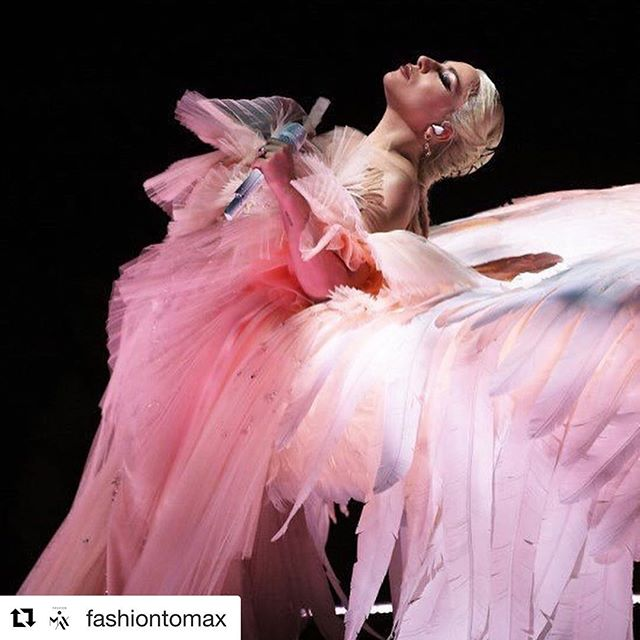 #Repost @fashiontomax with @get_repost     @ladygaga delivers an angelic performance in honor of the #TimesUp movement at the #GRAMMYs tonight while playing a winged piano alongside #MarkRonson. SWIPE      to see the performance. #LadyGaga