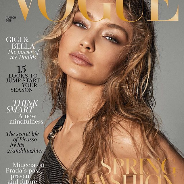 Very honored to be your March cover girl @britishvogue @edward_enninful with my sissy @bellahadid on a second cover, both by our beloved - the one&only #StevenMeisel !!      thank you thank you thank you xxxxxxxx