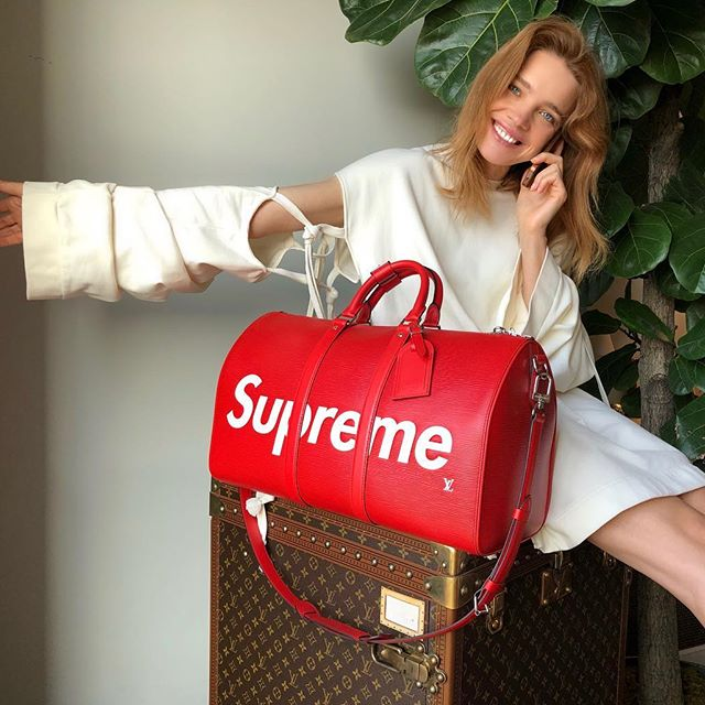 Screaming with joy     Starting today, get a chance to win some of the most iconic, most sold out items, including this LV Supreme bag available for 24h ONLY on @elbi    Head to my stories for the rules of the game     #elbidrop
