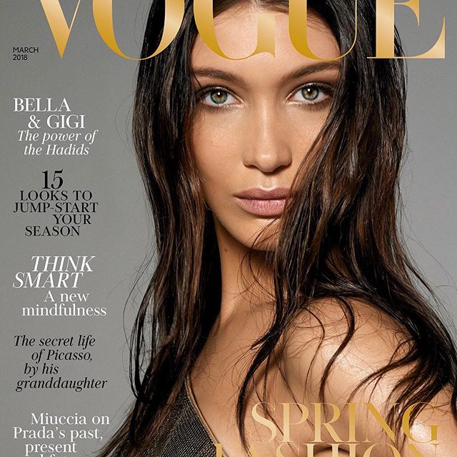 My @BritishVogue cover!    All my love to you sweet, sweet @edward_enninful and all at @britishvogue for having my beautiful sissy @gigihadid and I share the March cover showing how similar we really are       Shot by our beloved and adored #SteveMeisel wearing @versace_official Thank you @patmcgrathreal @guidopalau for your unwavering attention on set and #JoeMckenna for always perfecting the look.   Thank you xx (Out on stands Feb 2nd!)
