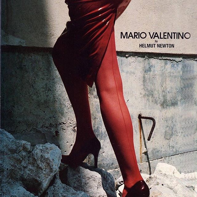!!! February the 6th, Triennale di Milano  Helmut Newton for Mario Valentino, Advertising Campaign A/W 97-98. Stylist: Anna Dello Russo @Regranned from @mariovalentino_company also in #adrbook launching on 24th February