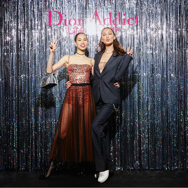 Last night at the launch of my #DiorAddictLacquerPlump campaign launch in Japan!!!! a big congratulations to my sweetest angel @i_am_kiko for becoming the new ambassador of Asia. @diormakeup So HAPPY!!!!!