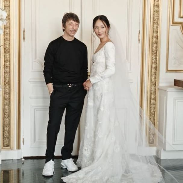 My second wedding story for Vogue US is live: the journey of my five wedding dress fittings, including the emotional experience seeing my Valentino Haute Couture wedding dress come to life. I wanted to document this because I can acknowledge how surreal it is and that it will never happen again; from the 1.5 hour fitting with #PierpaoloPiccioli at @maisonvalentino s atelier in Rome, to seeing the final creation with him in Paris. I cry every time I see this because all of the emotions come flooding back. Read more about my fittings and watch the full video on @voguemagazine now   Shot by @iammucci #LOVEBOLT