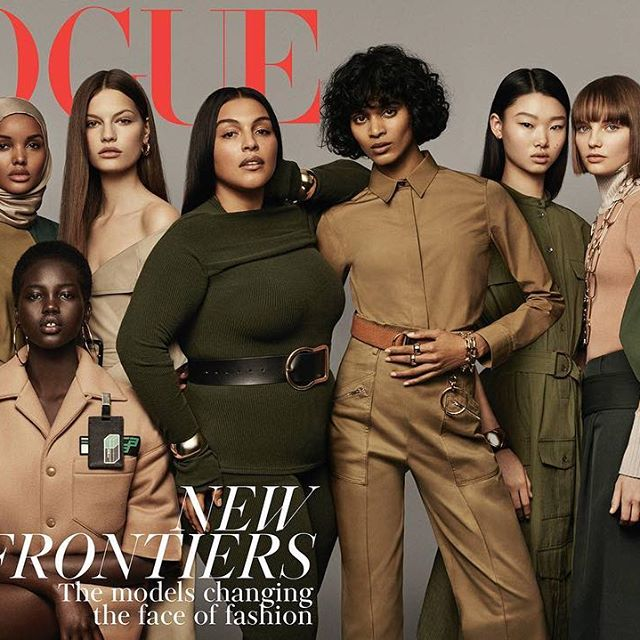 Love this cover!! Thank you @edward_enninful @britishvogue! @fransummers wearing a look from my #VBPreAW18 collection x VB @CraigMcDeanStudio  @vittoceretti @Halima @adutakech @LaFaretta @Palomija @Pazhatu @mulan_bae @fransummers  @selenaforrest @ellie_pithers