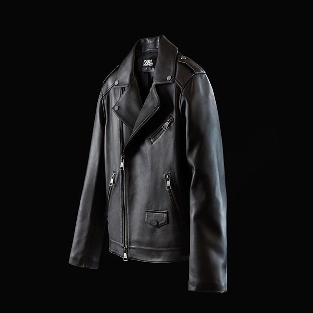 It s all about black leather jacket for women and men. Shop both of collection on KARL.com ! #KARLLAGERFELD
