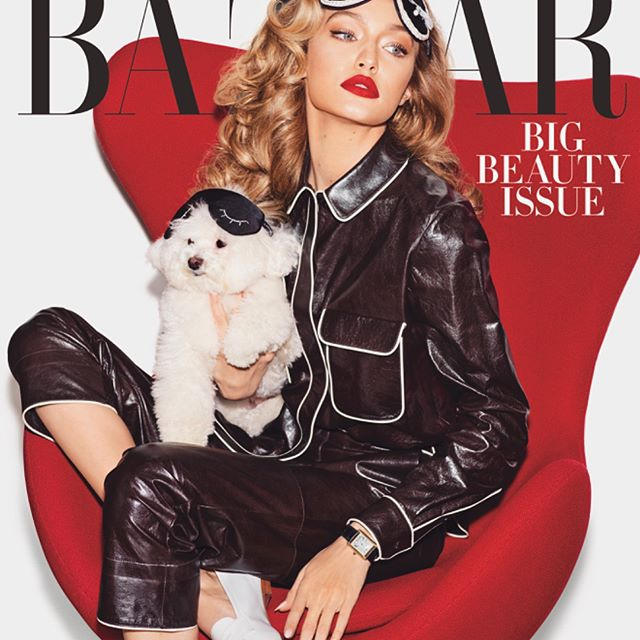 Very excited to be your May cover girl @harpersbazaarus !!! Thank you so much @glendabailey      big love to everyone @marianovivanco @erinparsonsmakeup @joannahillman @nailsbymei @joeygeorge