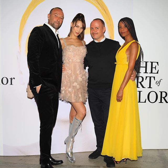 As the international face and ambassador of Dior makeup I am honored to be at our last @diormakeup #TheArtOfColor exhibition. 6th country. Thank you to these three amazing, hard working, kind, incredible people for all of the hard work you put into making this the best on earth. We have so much more to do but I am so lucky I get to spend it with you. Thank you       @peterphilipsmakeup @jeromepulis @fannybourdettedonon I love you