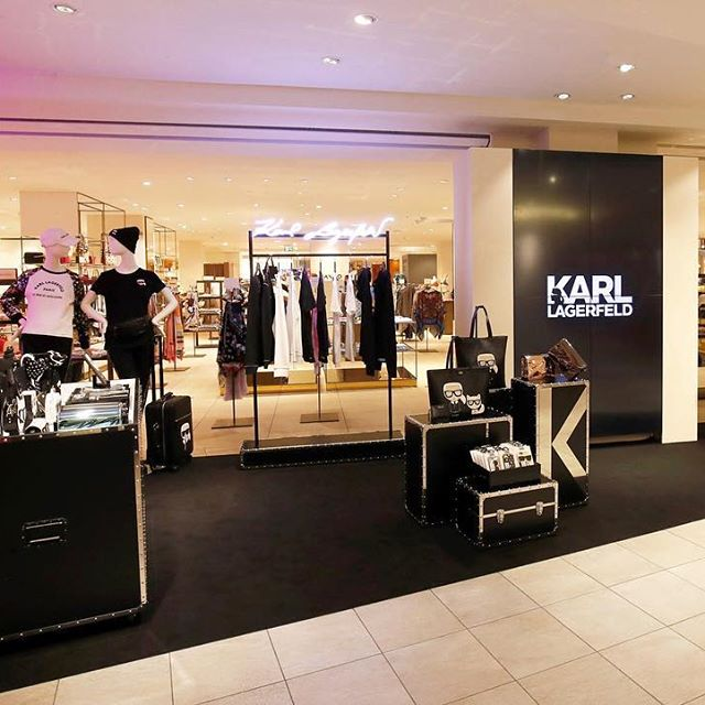 "An exclusive ""KARL essentials"" pop-up just opened in @kadewe_berlin department store! Be sure to come to visit before the 29!  #KARLLAGERFELD"