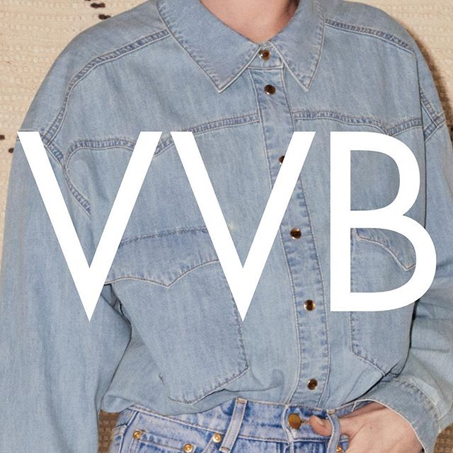 Double denim! Shop #VVBAW18 denim at the link in bio or at 36 Dover Street London x VB