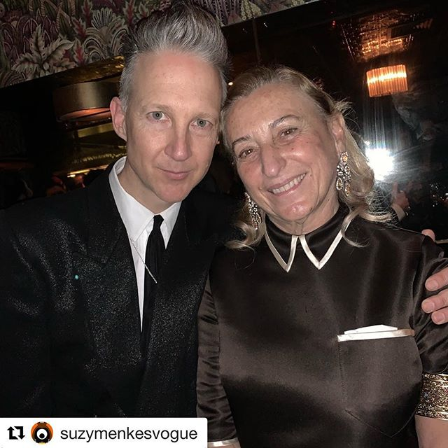 #Repost @suzymenkesvogue              Congratulations to Miuccia Prada and THANK you Jefferson for this buzzy post-Awards party #fashionawards