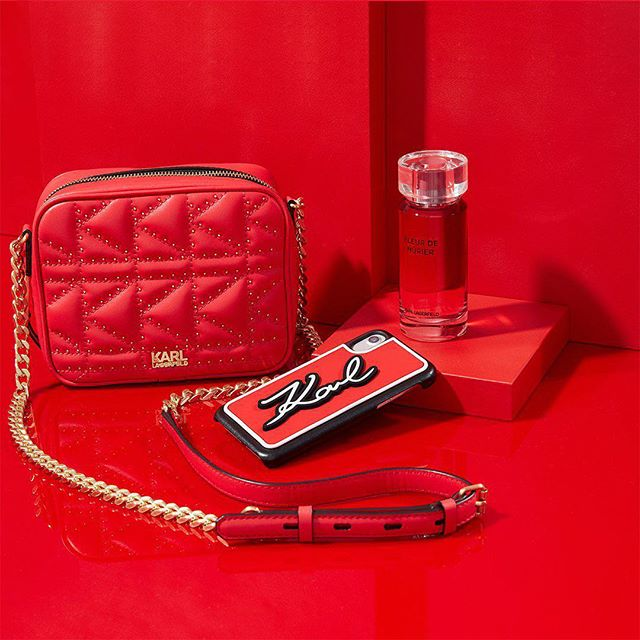 Before you paint the town red this December, discover KARL's edit of ruby accessories. #KARLHOLIDAYS