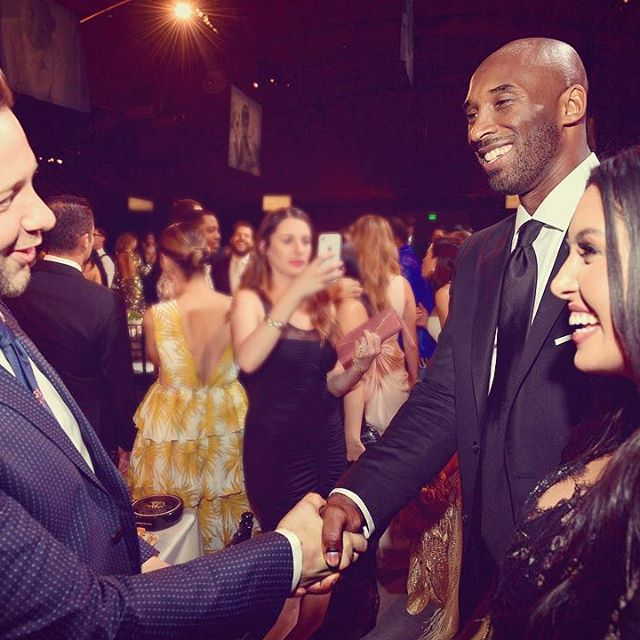 This weekend I met Oscar-winning producer @kobebryant at the @baby2baby gala in LA. (I think he played sports before making movies? Or something? Touchdown!) It was a bittersweet weekend for the organization: We raised $4.3 million while fires ravaged the California coast. In the past three days, the charity has collected more than 300,000 basic essentials to distribute to families in evacuation centers, and isn t stopping there. For more: baby2baby.org