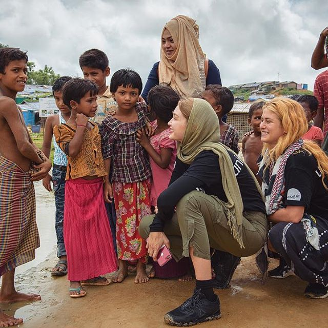 I have been lucky enough to see firsthand what an incredible impact your donations to UNICEF make !    Become a lifeline for vulnerable children around the world : giving monthly allows UNICEF to be there before, during and long after conflicts or disasters.   No donation is too small! Sign up with @UNICEFUSA link in bio Cox s Bazar Refugee Camp, Bangladesh 2018 field visit photos by @rahultalukder