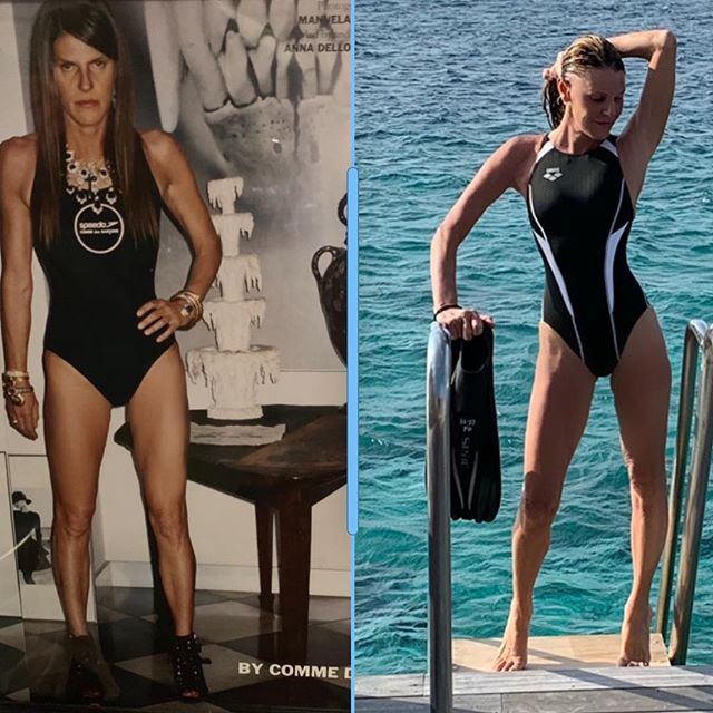 #10yearschallenge  No day Off       first pic   by Manuela Pavesi        for @purplefashionmagazine wearing @commedesgarcons for @speedo one-piece     second   by @angelogioia57 wearing @arenawaterinstinct one-piece @kudadoomaldives