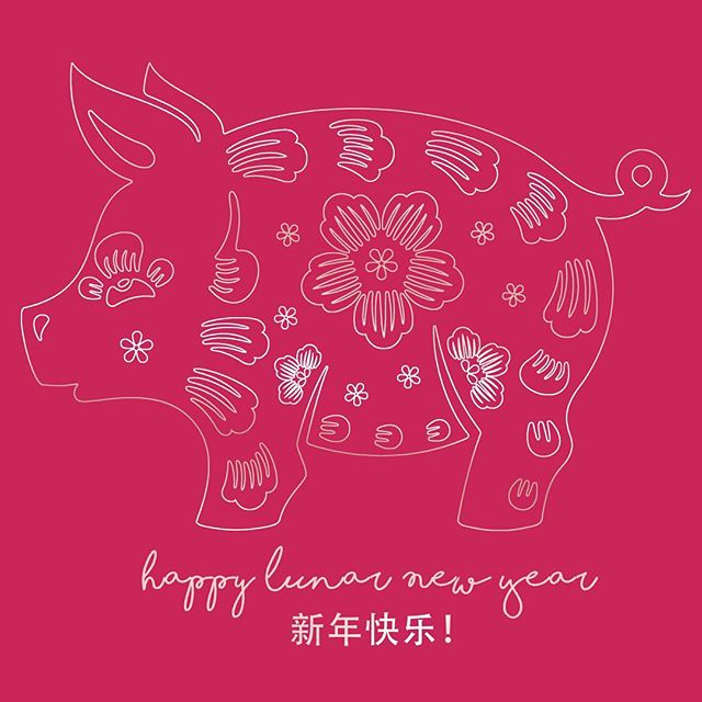 Happy Lunar New Year! I was born the year of the pig so I m extra excited for what s in store this year     Wishing everyone love, health and joy