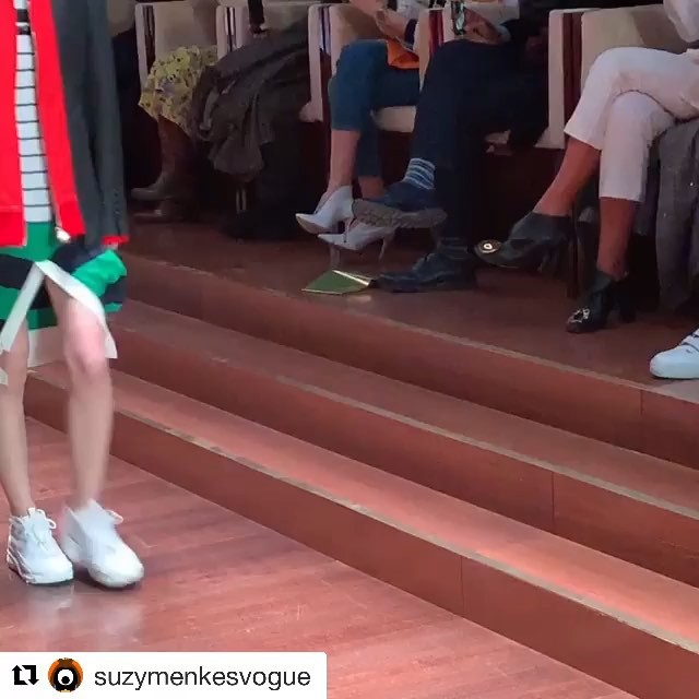 #Repost @suzymenkesvogue           Burberry: astounding fashion diversity from Riccardo Tisci