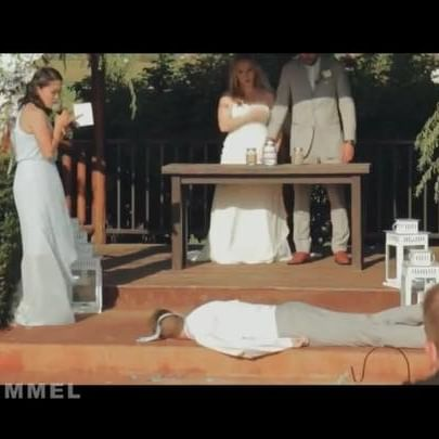 The story behind one of the craziest wedding videos ever...