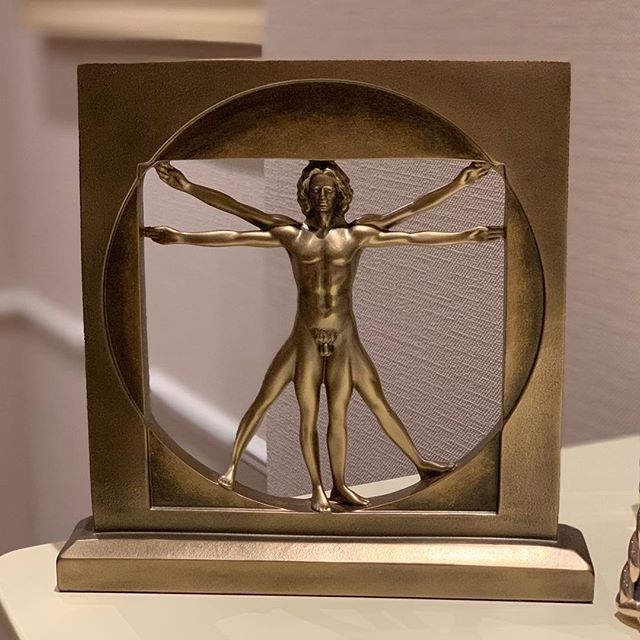 Another beauty from Venezia.  The Vitruvian Man by Leonardo da Vinci.  The proportions of the human body according to Vitruvius.  #vitruvianman #davinci