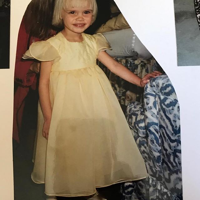 #tbt this is a very rare picture of me in a dress looking pleased with myself because I most probably had shorts on underneath. Once a squish, always a squish. My head was half fringe, half face. Squished