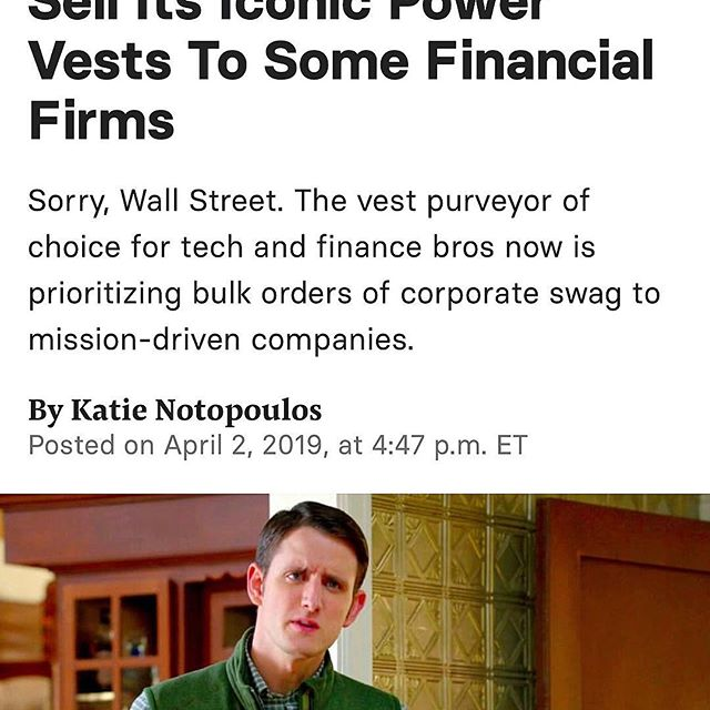 GENIUS:  The vest purveyor of choice for tech and finance bros now is prioritizing bulk orders of corporate swag to !!!!!!!!!!!!!! mission-driven companies !!!!!!!!!!!.  One of the reasons you guys are the best @patagonia
