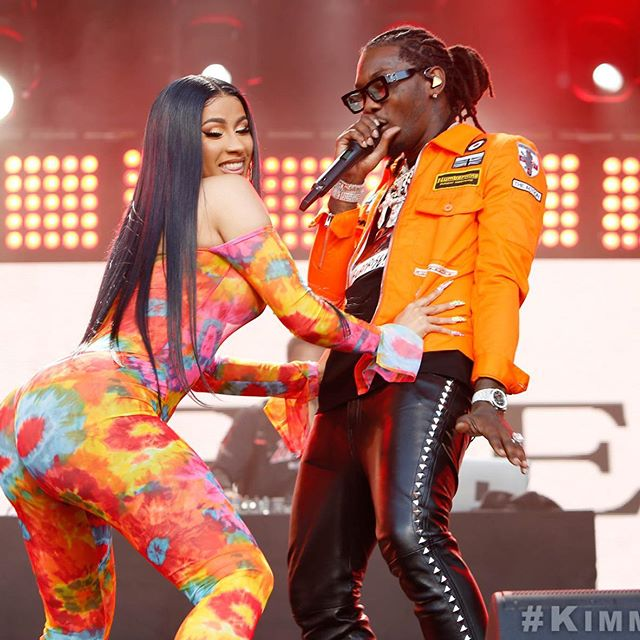 Cute couple alert!     @OffsetYRN @IamCardiB #Clout #FamilyOf4