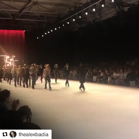 #Repost @thealexbadia     @celine by @hedislimane    Last show of the season and a good one @celine #pfw #ss2020
