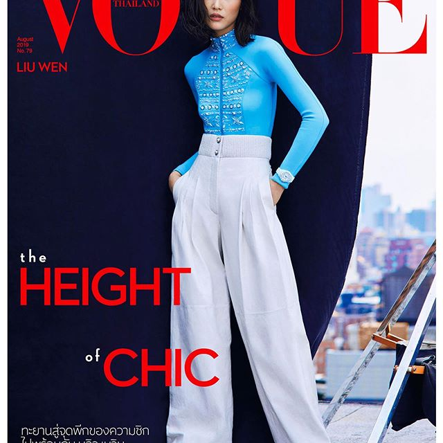 Two new covers for @voguethailand from the rooftops! Such a fun day with @kullawit @russelljames @katie_mossman @fulviafarolfi @davidvoncannon @marthafekete Thank you for having me on the August issue!