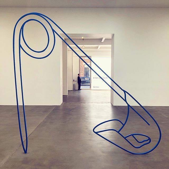 "I went to see Michael Craig-Martin's show at @gagosian today and had two reactions: At first, I contemplated how the artist s sculptures probed the relationship between objects and images, perception and reality, harnessing our uniquely human capacity to conjure ideas through symbols and signs. My second thought was, Jeez that's rad! In the show notes, Craig-Martin said, ""I have always thought everything important is right in front of you."" ('Safety Pin 'blue,' 2019)"