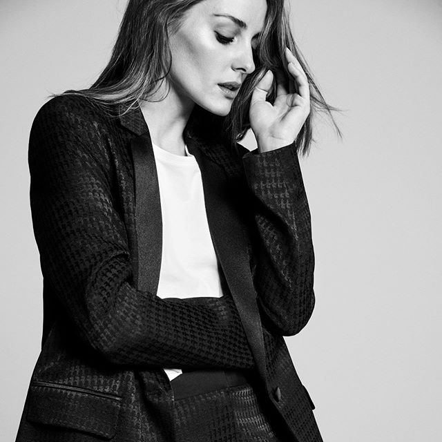 """A men s tuxedo can still feel feminine,"" says @oliviapalermo. Shop her essential styles, including a Parisia-chic tux. Link in the bio. #KARLXOLIVIA"