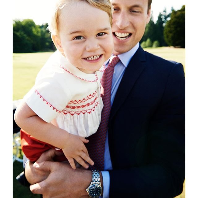 HRH PRINCE WILLIAM AND HIS SON HRH PRINCE GEORGE #2015 #TestinoArchive #MarioTestino